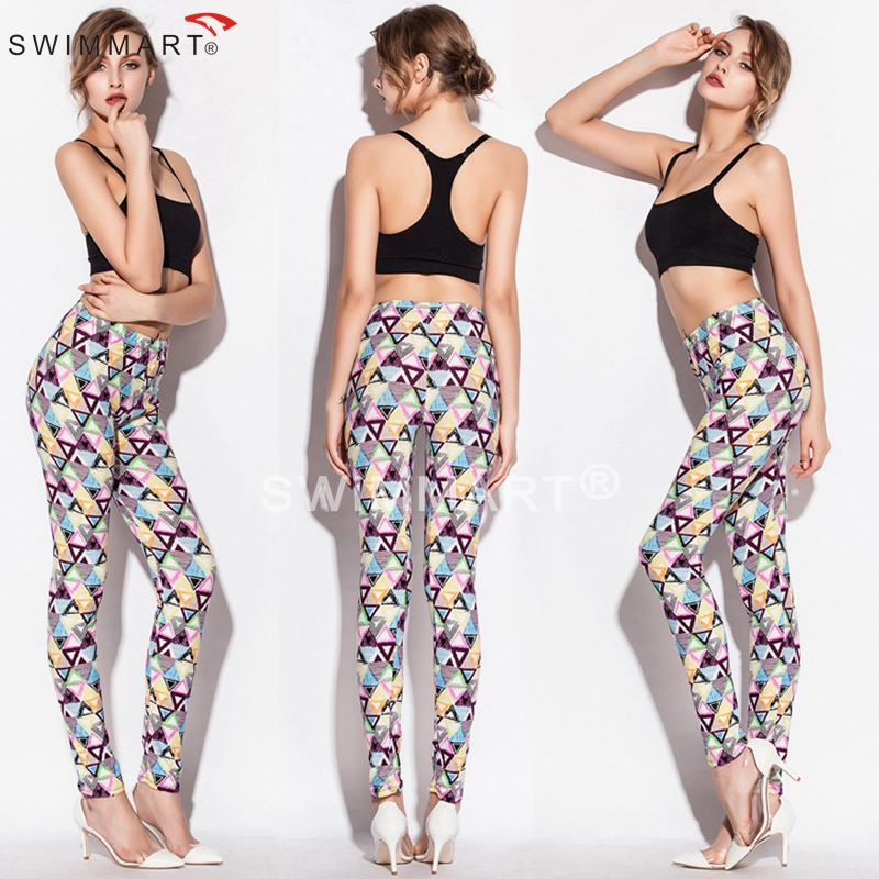 Outlet Spring Autumn Print Stretch Cotton Young girls mature Lady Sexy models Legging
