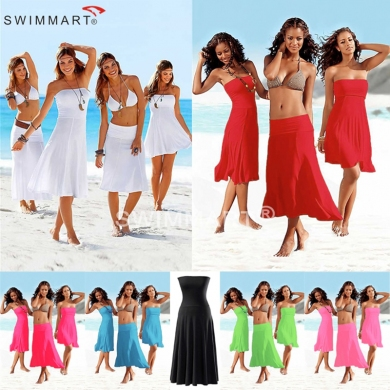 Most Popular Match Bikini Multi - wear infinite Cover ups Convertible Beach dress