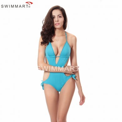 Hot Sales Classic Monokini Pattern Women's Crochet Sexy Sponge Push up One Piece swimsuit