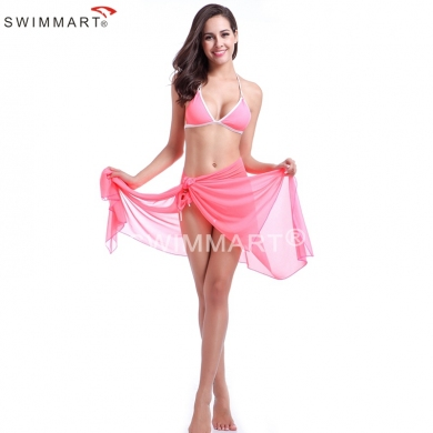 10 in 1 Multi - wear infinite Transparent Stretch Mesh Beach Cover up Dress