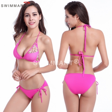 Hot Sale Strappy Bandage Transparent Stretch Mesh Sexy Bikini