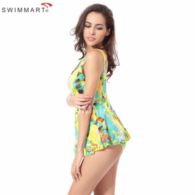 Traditional Female Favorite Sexy Allover-Prints 2016 Fully lined Push up One piece Large Women Big Plus size swimsuit