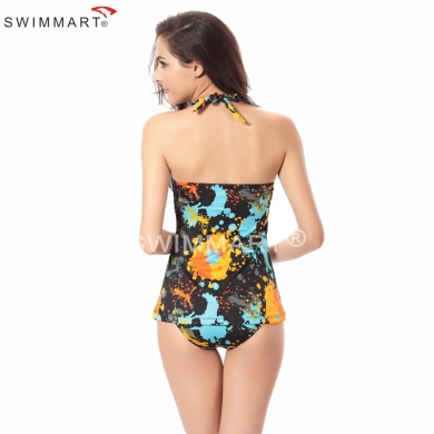 Classic Design Triangluar Bottom Traditional Female Sexy swimwear mature Women's Tankini swimsuits