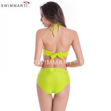 High Quality Small Flounced Top Underwired Cup Women's Sexy High waist Bikini