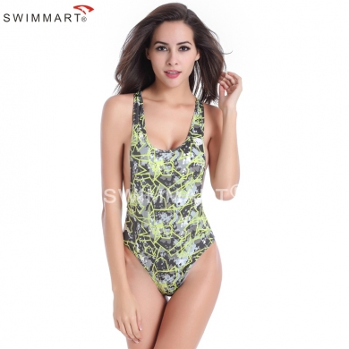 Sexy Cut Out Style Removable Pad Raceback One Piece High Cut swimwear