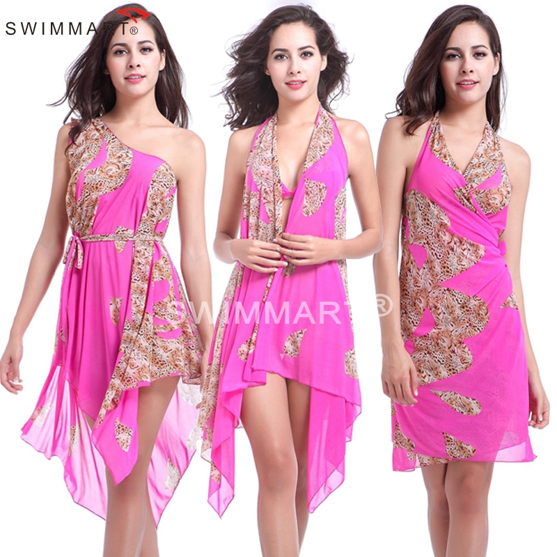 Ten in One match Bikini Convertible infinite Transparent Stretch Mesh Beach dress wears