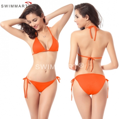 Hot Wholesale Promotion Cheap  2016 Strappy Halters Tiny Bikini swimwear