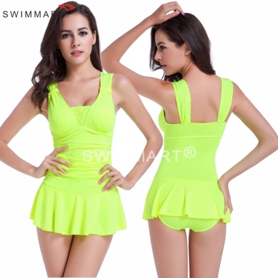 Double shoulders with Movable Knot Push up Bathing suits 2016 Hip - up Sexy One piece Pretty Girls swimwear