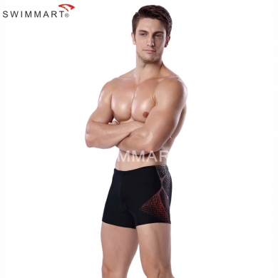 Dot imprint Elastic Band adjustable ties High Quality Lycra men Swim trunks