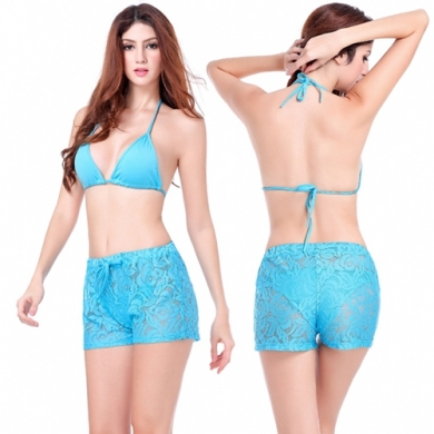 Hips - Up Loose Pattern Beach wears Adjustable tie Sexy Short Beach Hot Pants