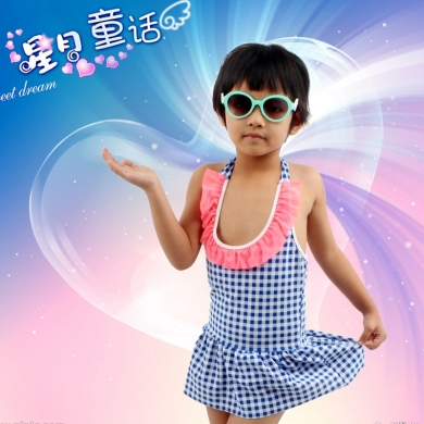 6-10T Children Swimwear mini Flounce Cute Girl Beachwear Toddler Infant Bathing Suits Kids Swimsuit ...