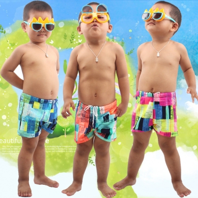 Kids Boy Swimwear Waist tied Children Swimsuit Cute Boys Beachwear Teenage Swimming Trunk Toddler Ba...