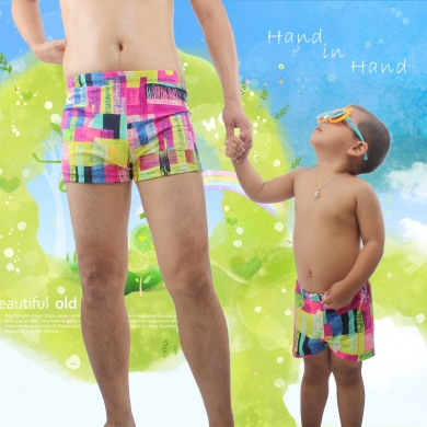 SWIMMART Hot Sale Daddy and Son Swimsuit Family Clothing Set Swim Trunk Parent Child Swimwear Bathin...